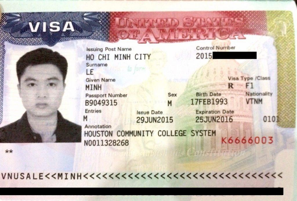 Visa du học Mỹ loại F1