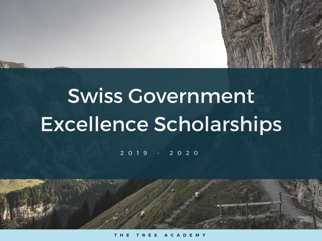 Học bổng chính phủ Thụy Sĩ dành cho chương trình học Thạc Sĩ, Tiến Sĩ