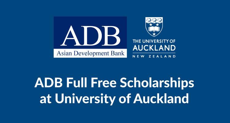 Học bổng ADB tài trợ toàn bộ tiền học phí khi bạn theo học tại đại học Auckland