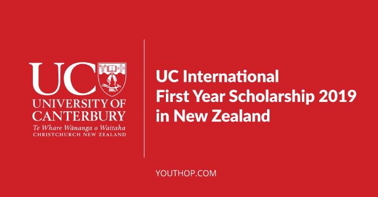 University of Canterbury International First Year Scholarship là học bổng thường niên dành cho sinh viên năm nhất của trường